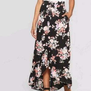High Low Hem Button front skirt